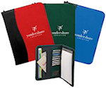 Sign Wave Zippered Padfolios